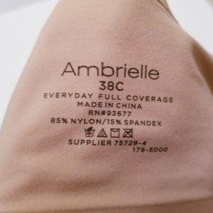 Ambrielle Intimates & Sleepwear - Ambrielle 38C Everyday Full Coverage Tan Bra